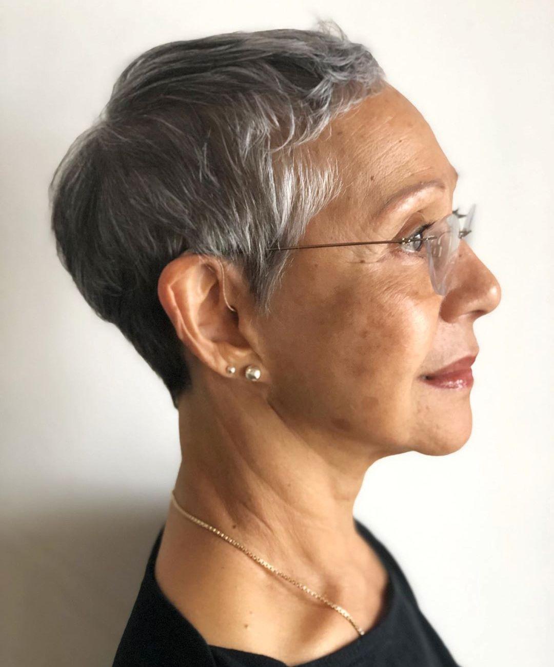 Women's Haircut for Super Short Hair
