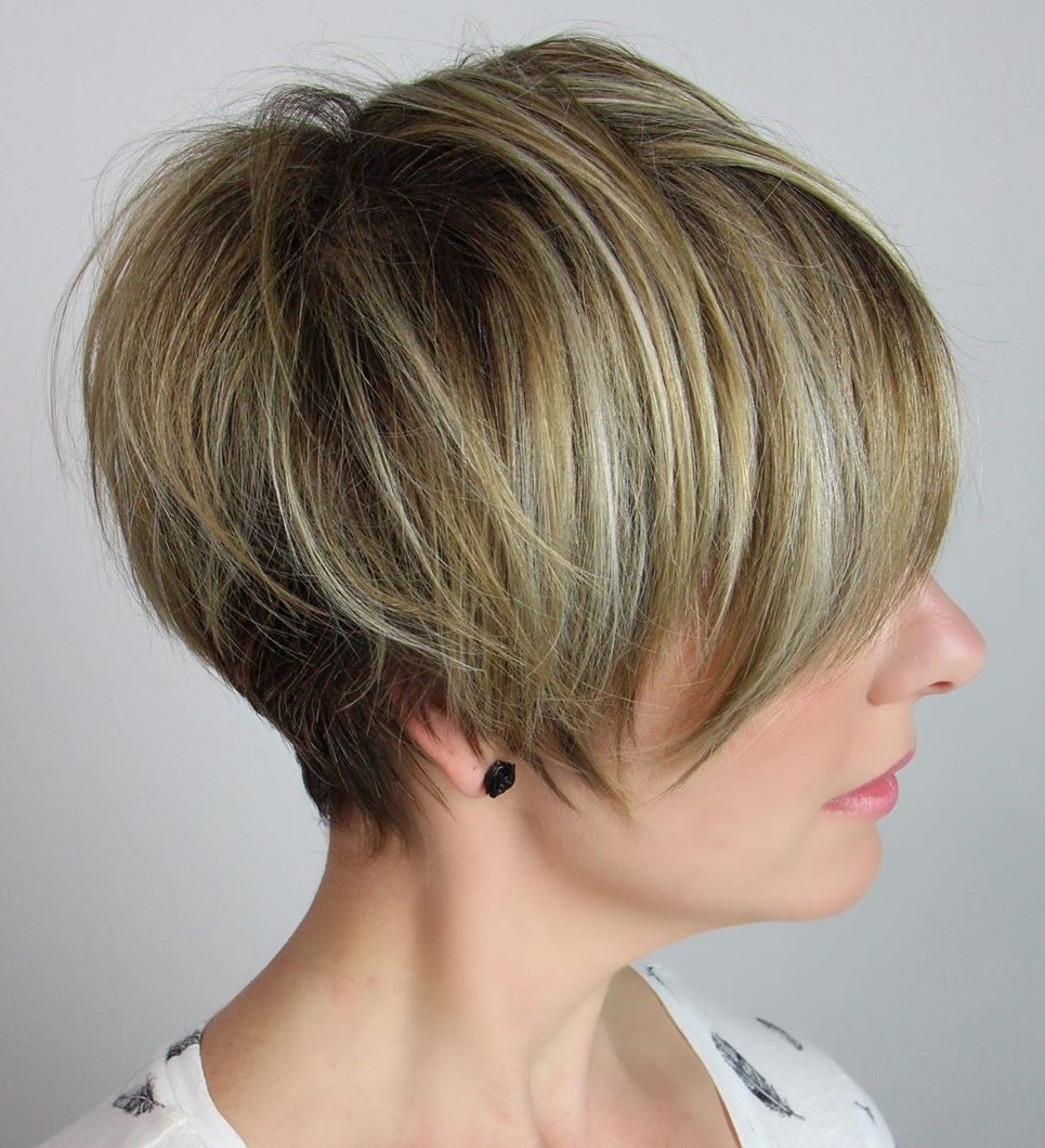 Pixie Cut Haircut with Highlights