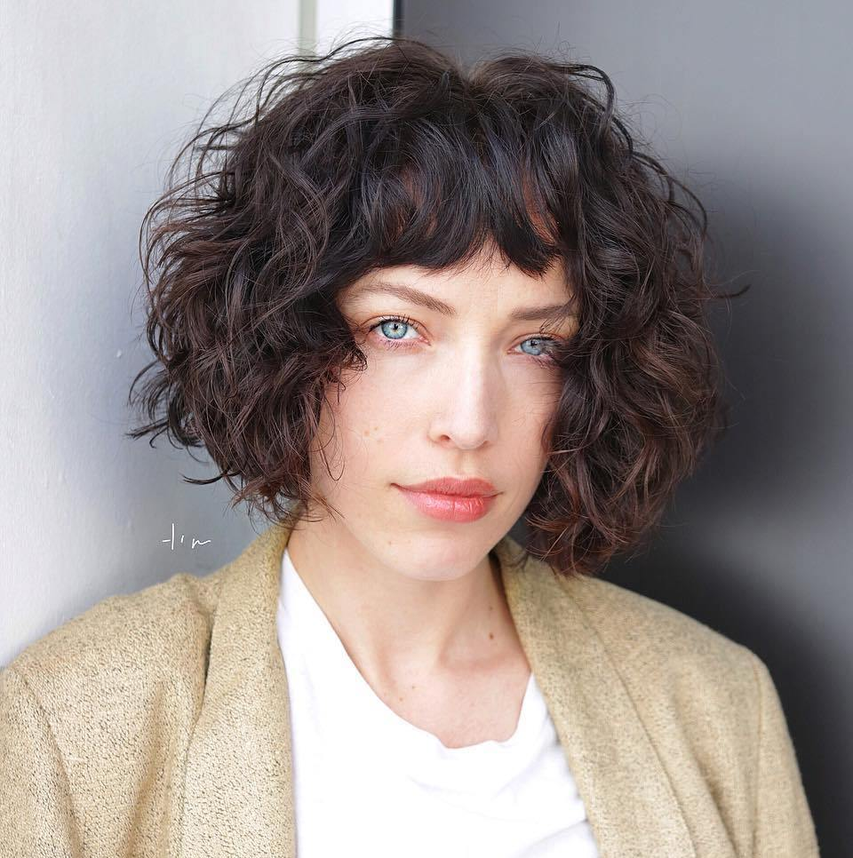 Curly Bob for Square Faces