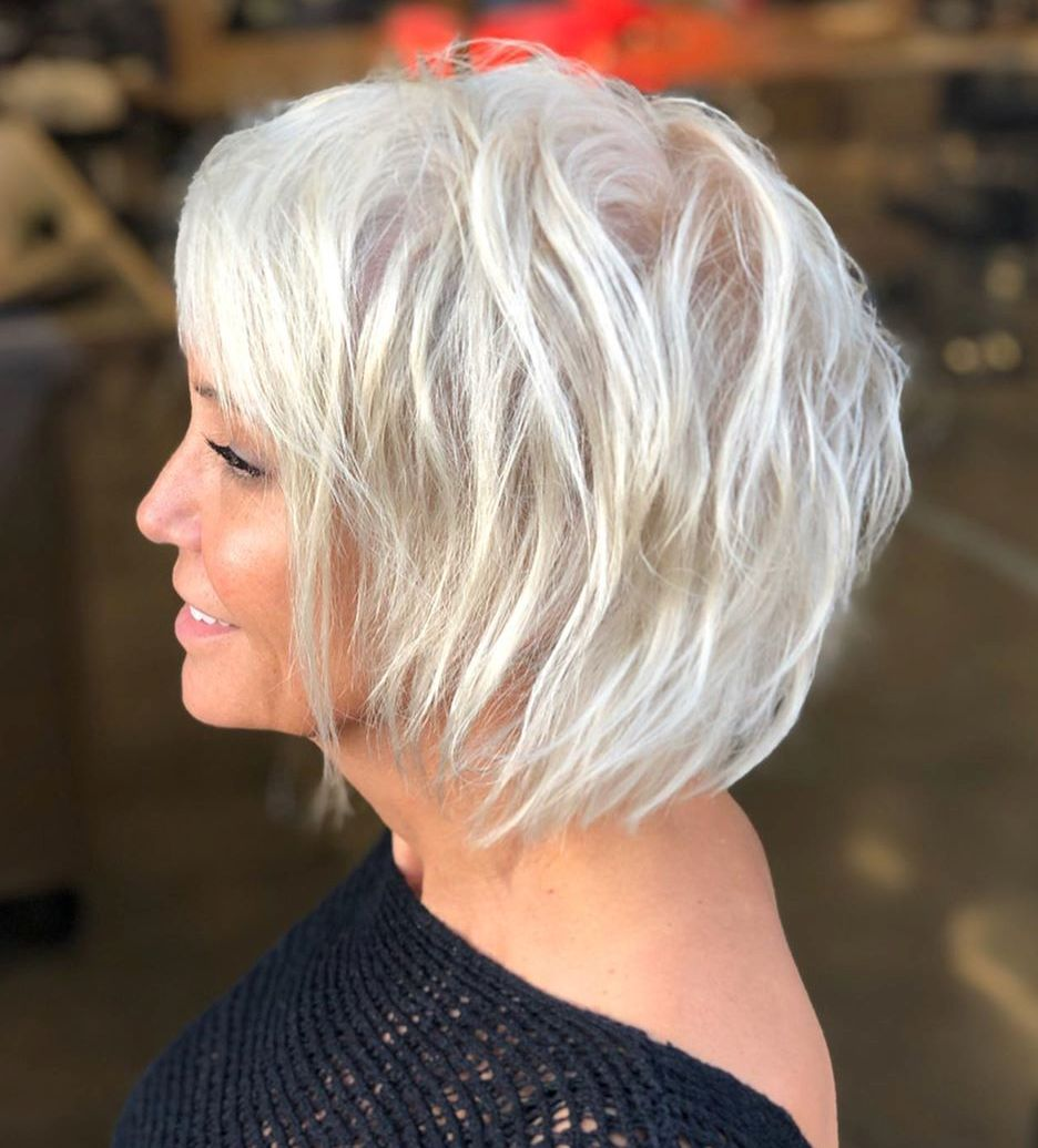 Platinum Choppy Bob