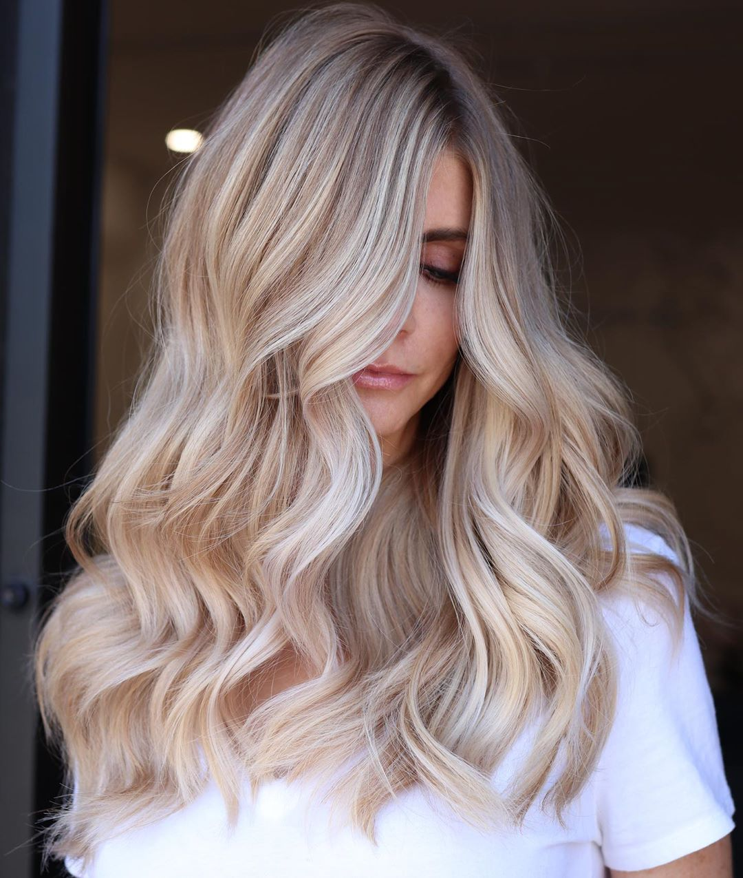 Soft Pearly Blonde Balayage
