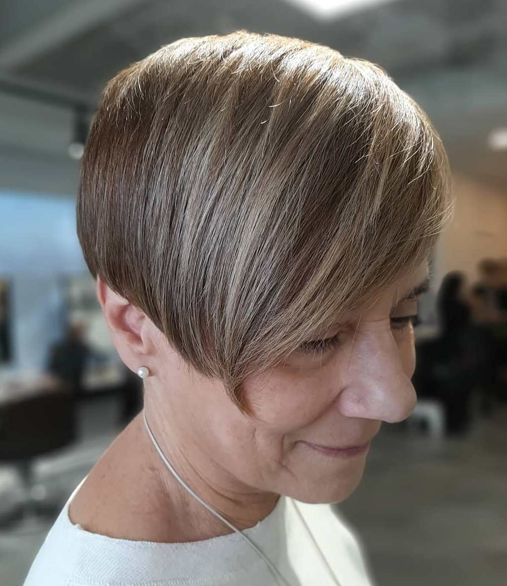 Women's Pixie with Angled Bangs