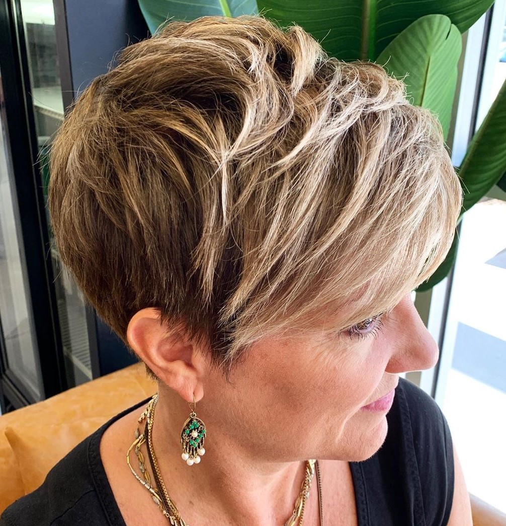 Easy Pixie Haircut for Older Women