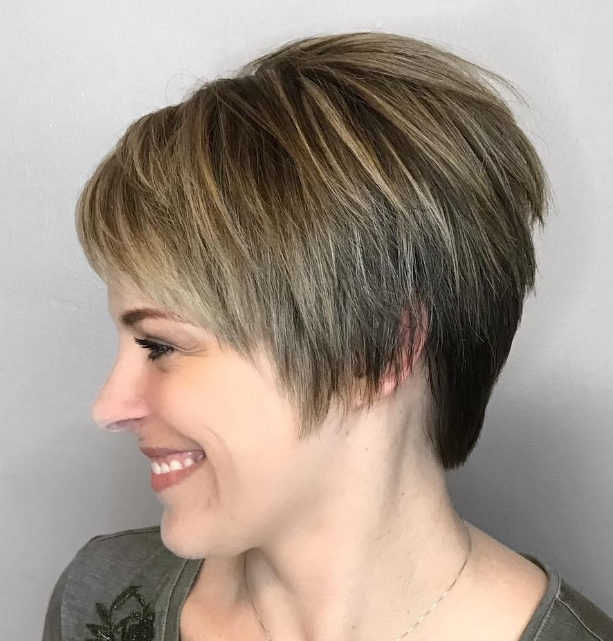 Pixie with Layers for Straight Hair