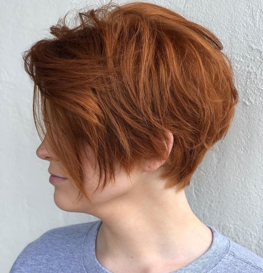 Bright Messy Pixie Cut