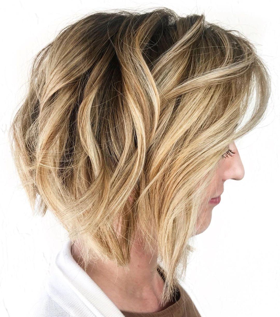 Golden Blonde Short Hair Color
