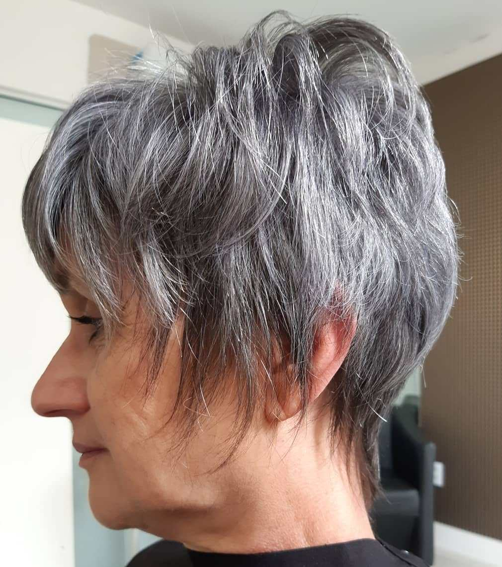 Nice Dark and Gray Pixie