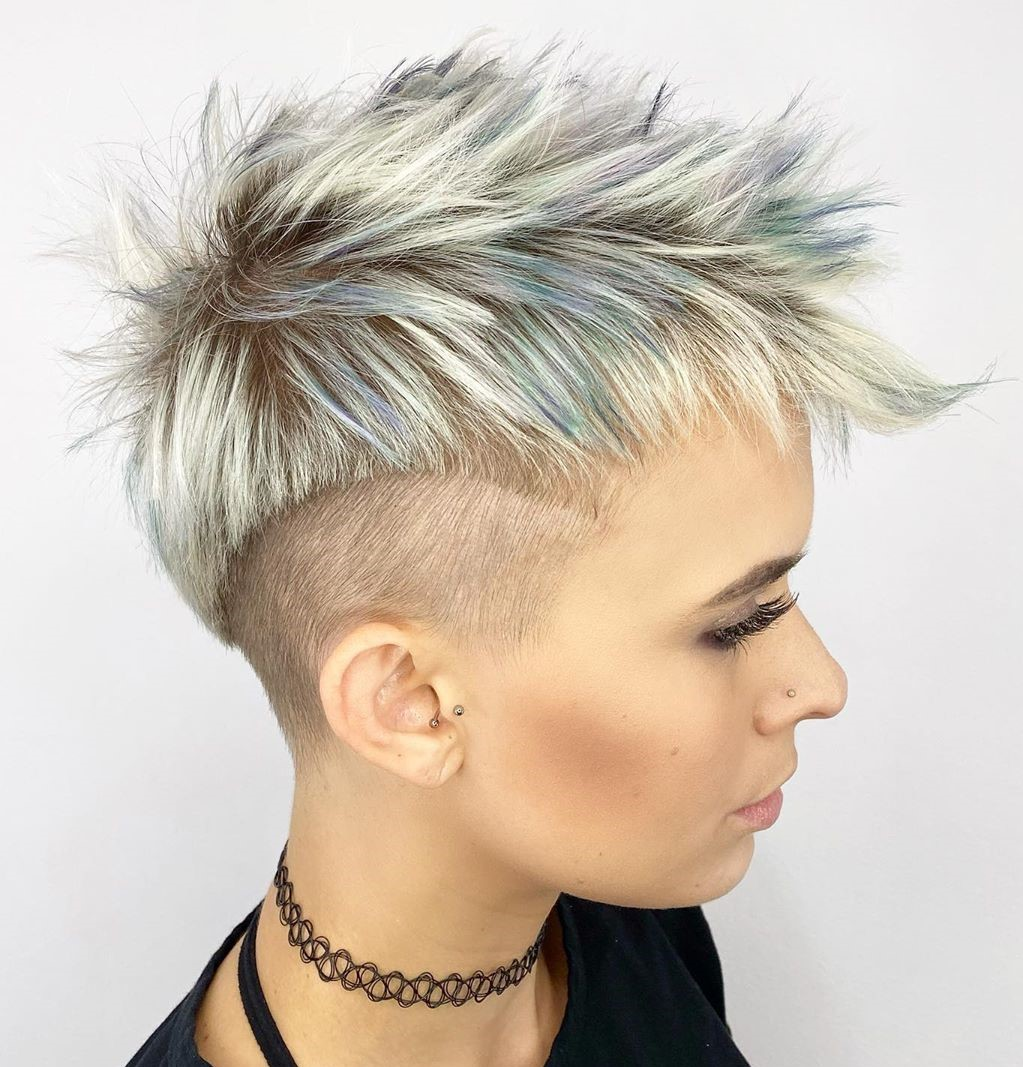 Fun Pixie with Shaved Sides