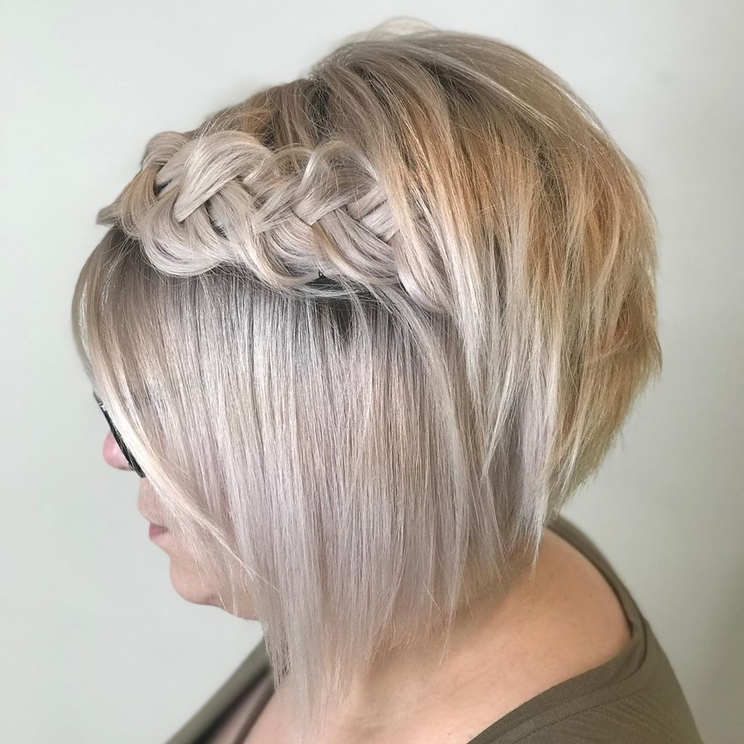 Braided Bob Half Updo