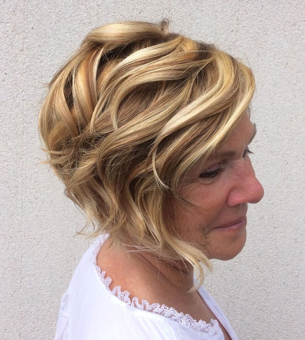 Short Tapered Bob with Blonde Highlights