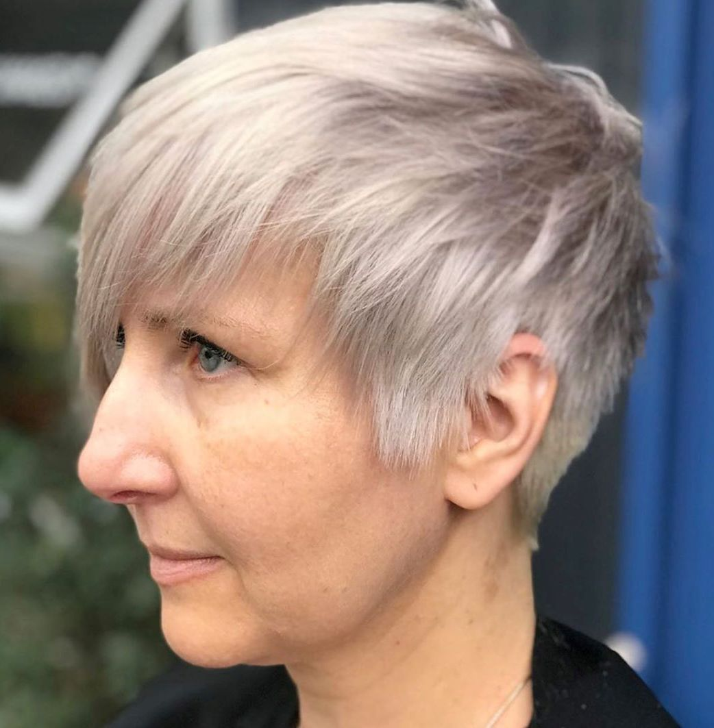 Platinum Pixie for Straight Hair