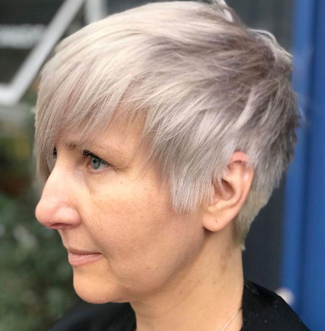 Women's Platinum Pixie for Straight Hair