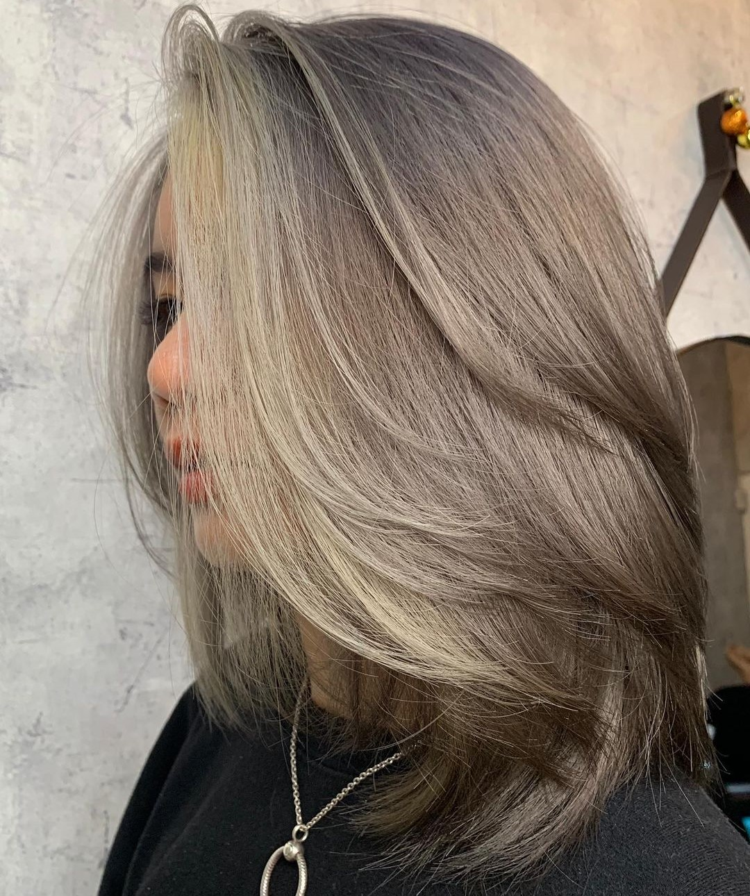 Shoulder-Length Hair with Voluminous Layers