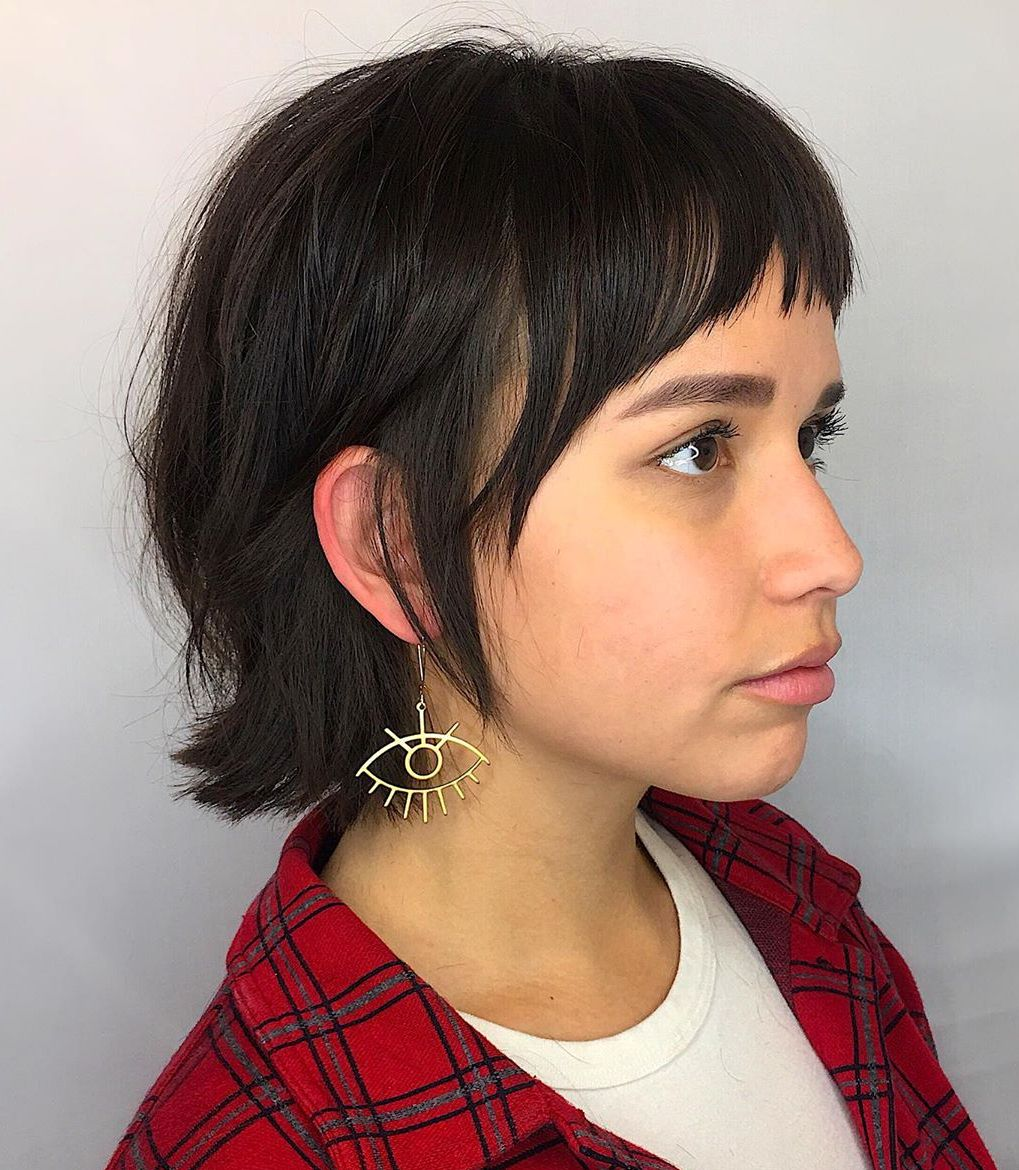 Mid Neck Length French Bob