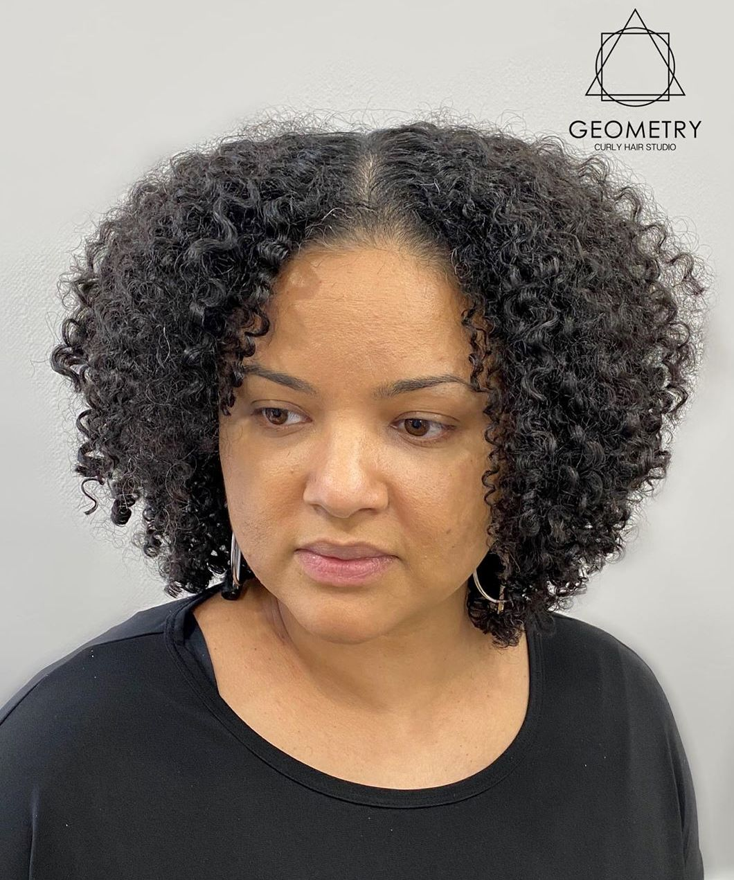 Neck-Length Layered Cut for Natural Hair