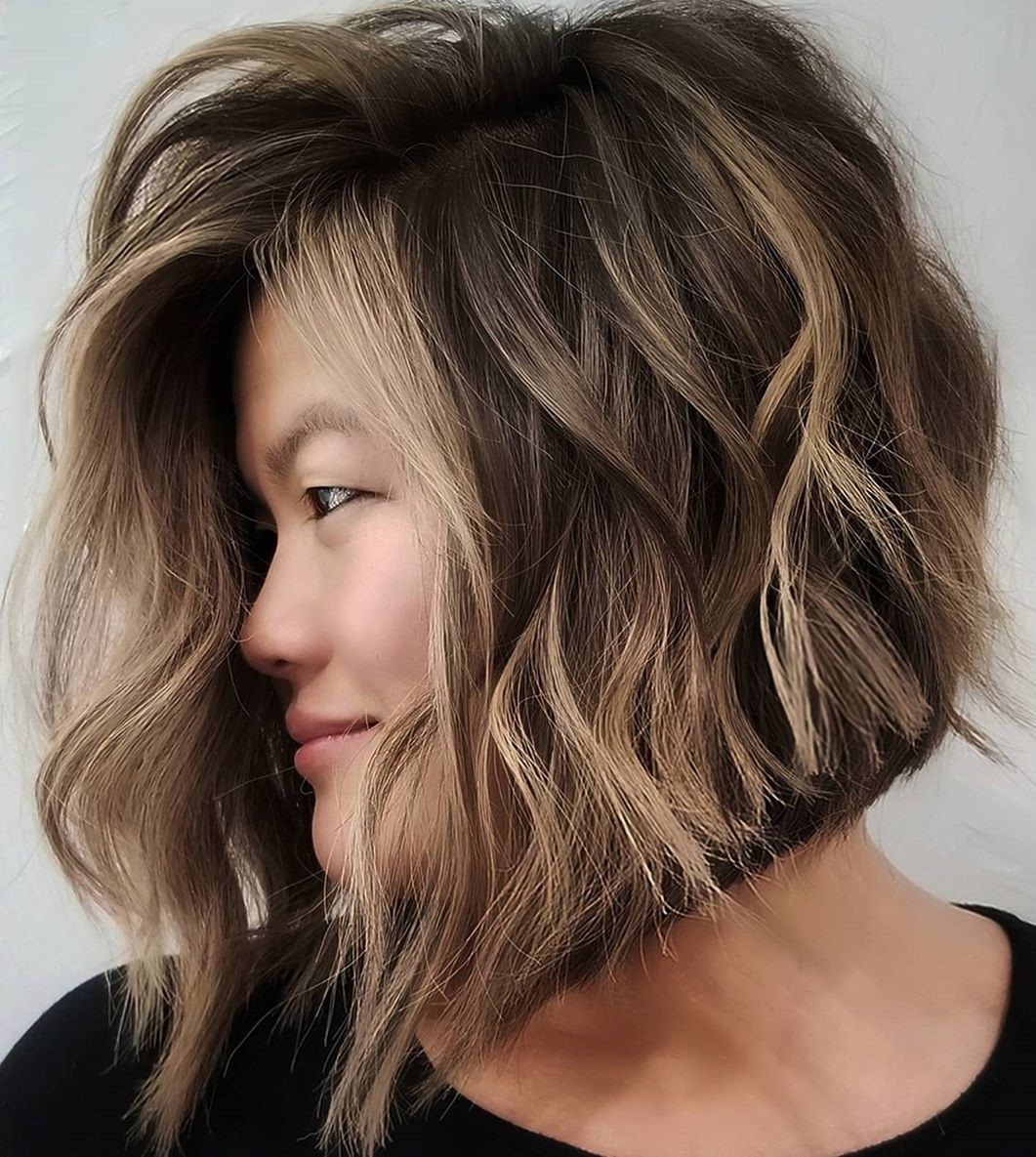 Neck-Length Haircut for Thick Wavy Hair