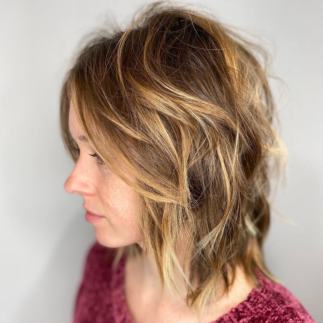 Messy Layered Bob with Short Layers