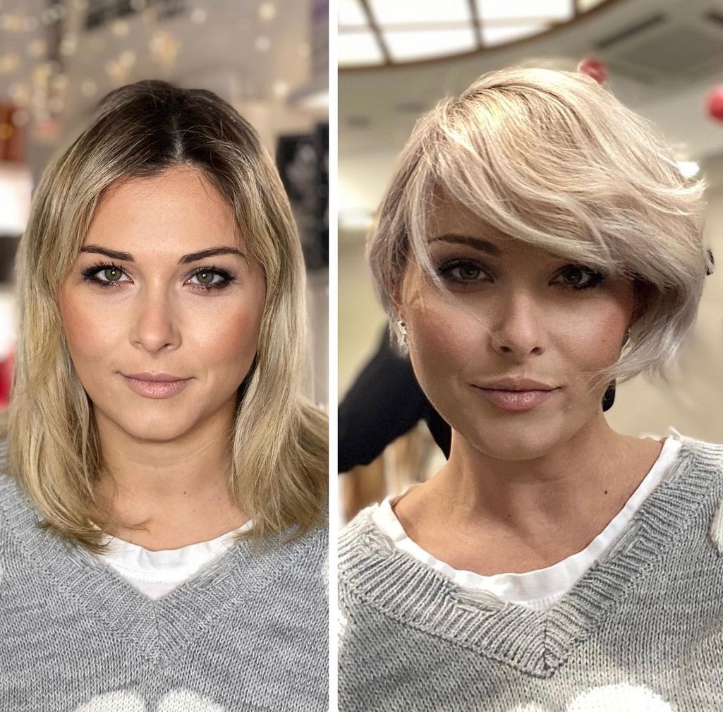 Simple Long Pixie Cut for Women