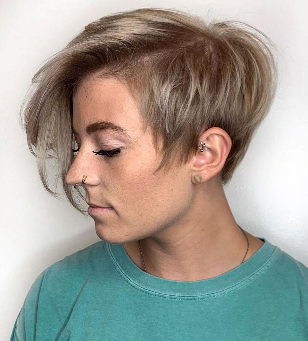 Short Layered Razored Pixie Hairstyle