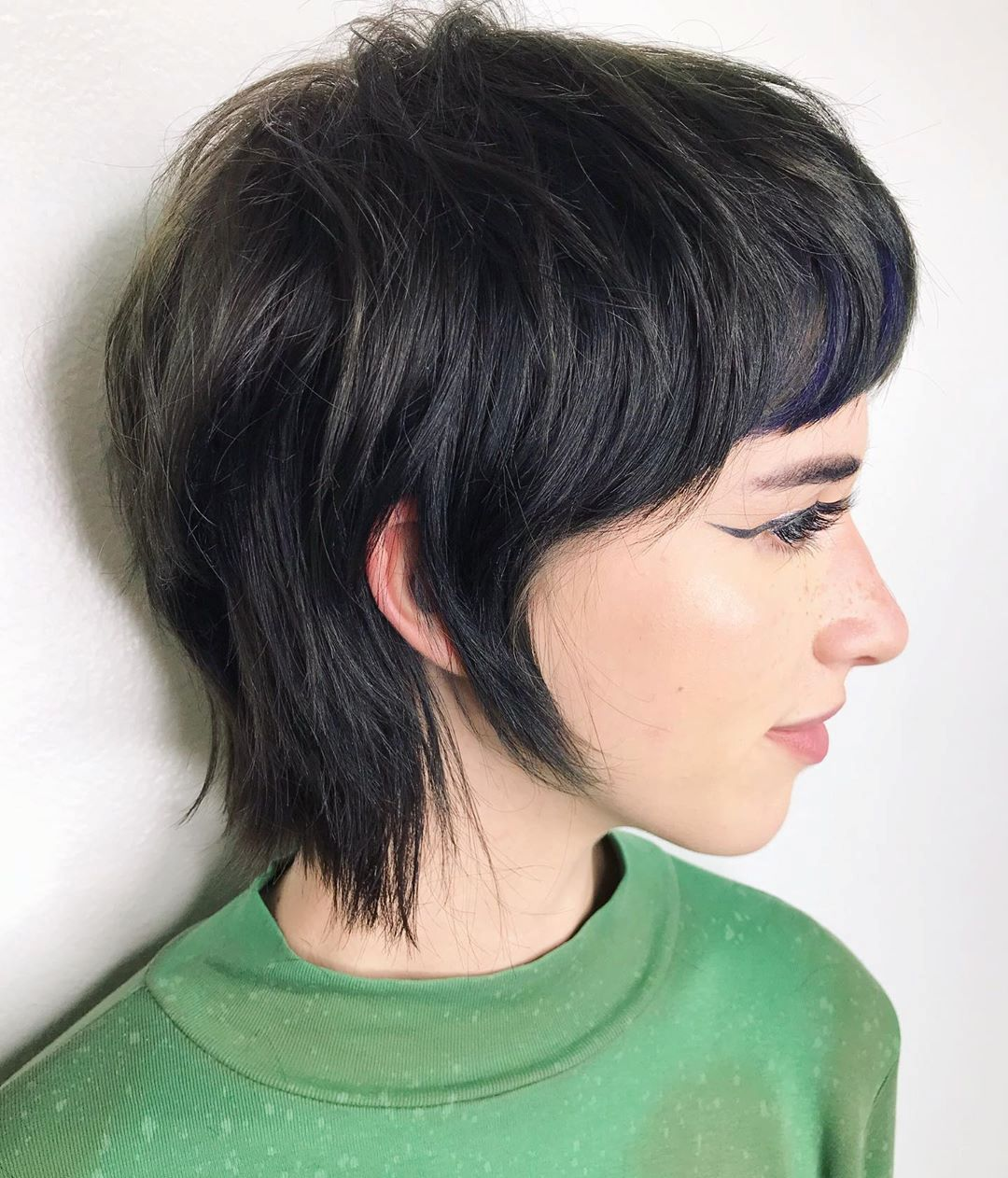 Pixie Haircut with Sideburns