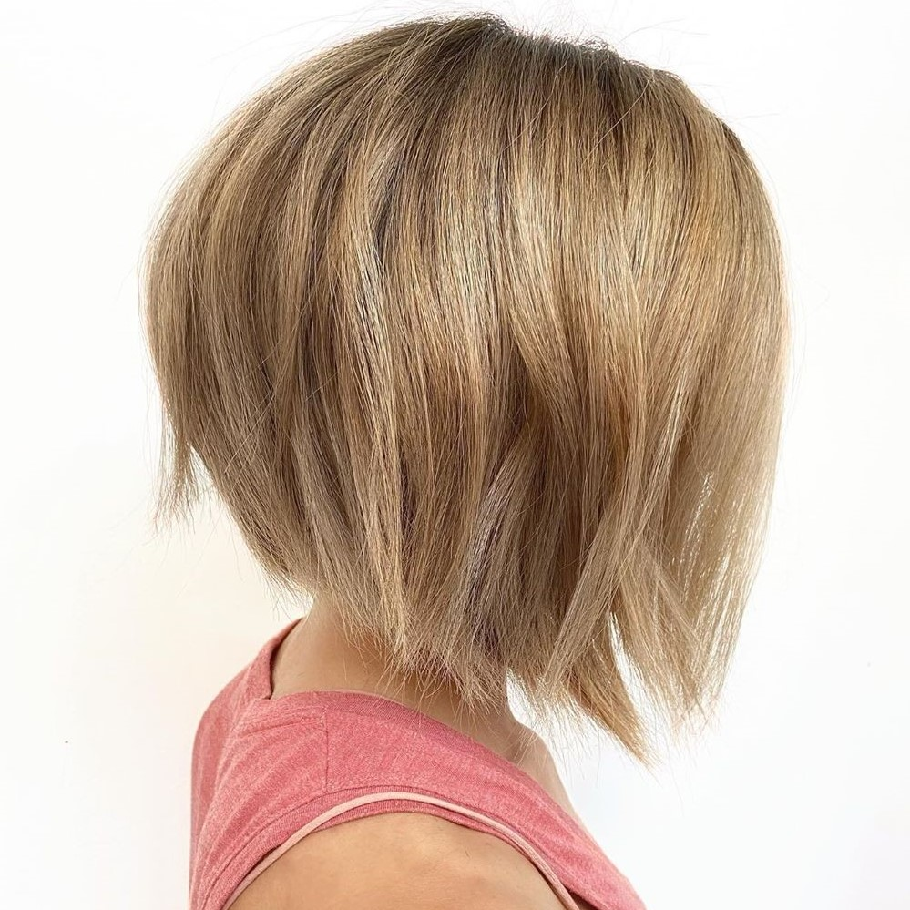 Inverted Neck-Length Bob Hairstyle