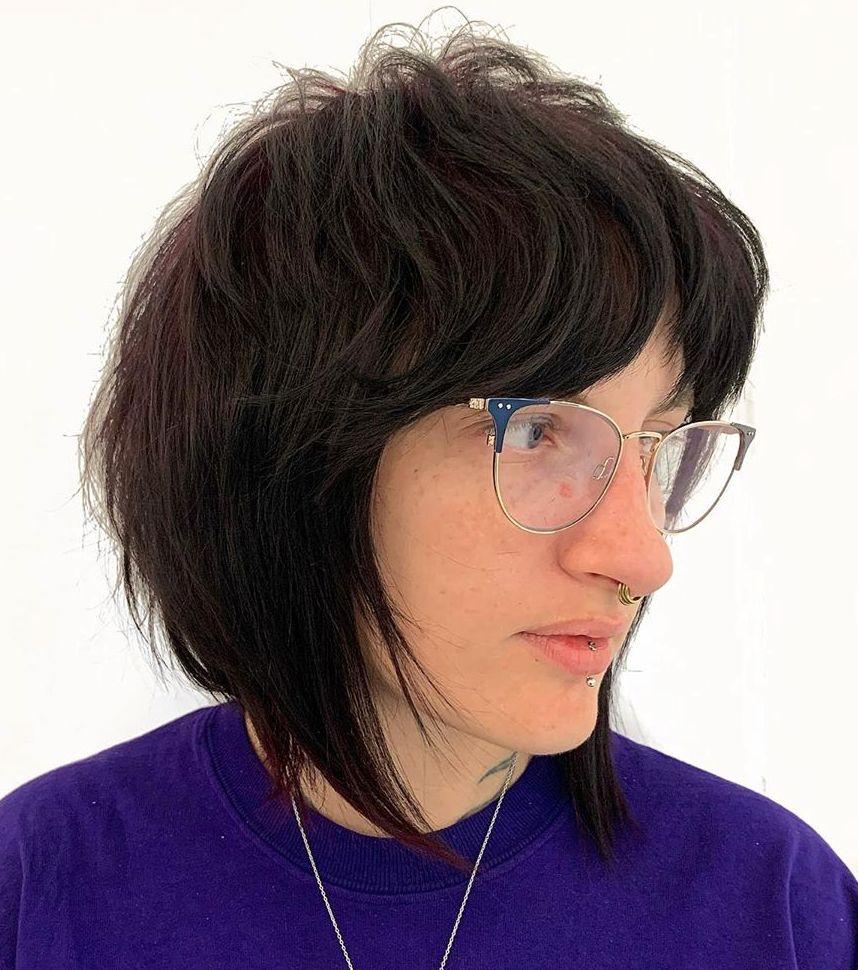 Edgy Neck-Length Shag Cut