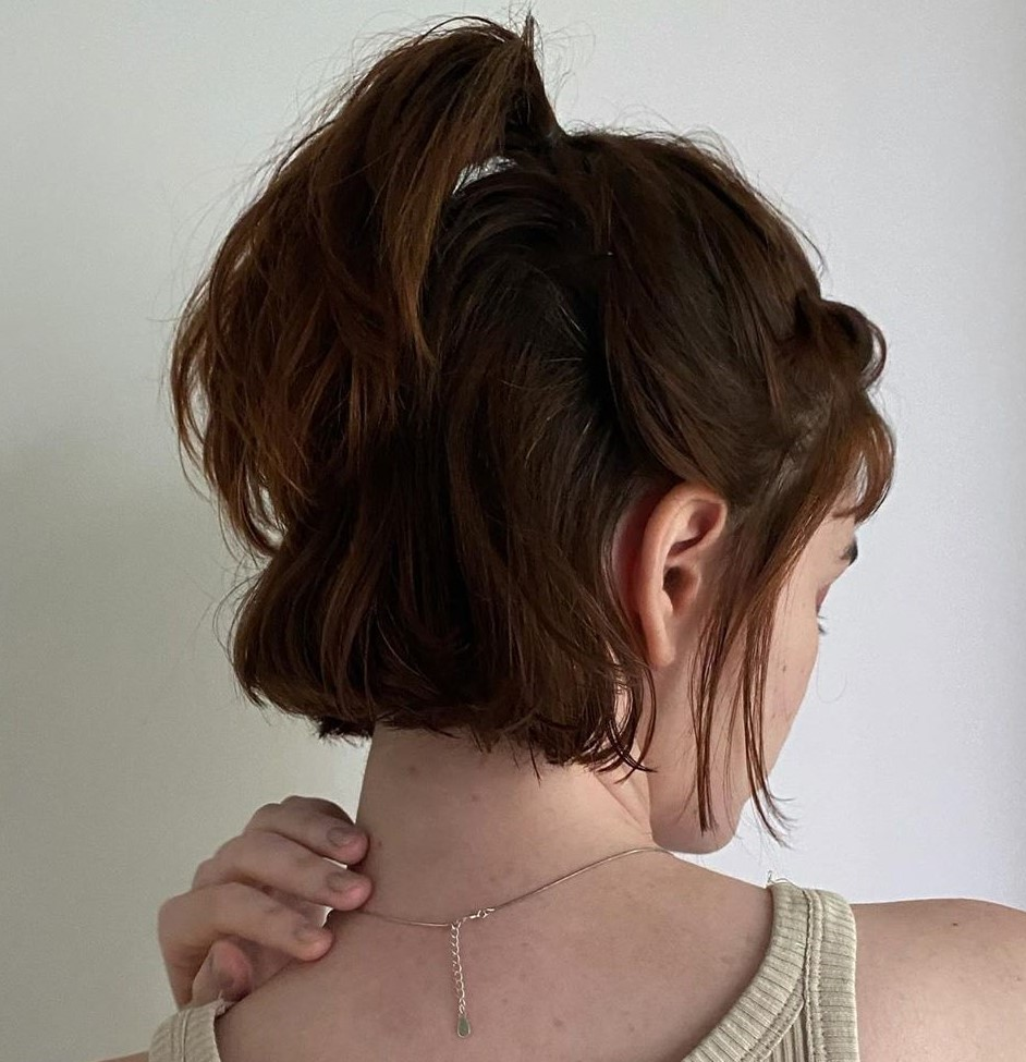 Half Updo for Neckline Haircut