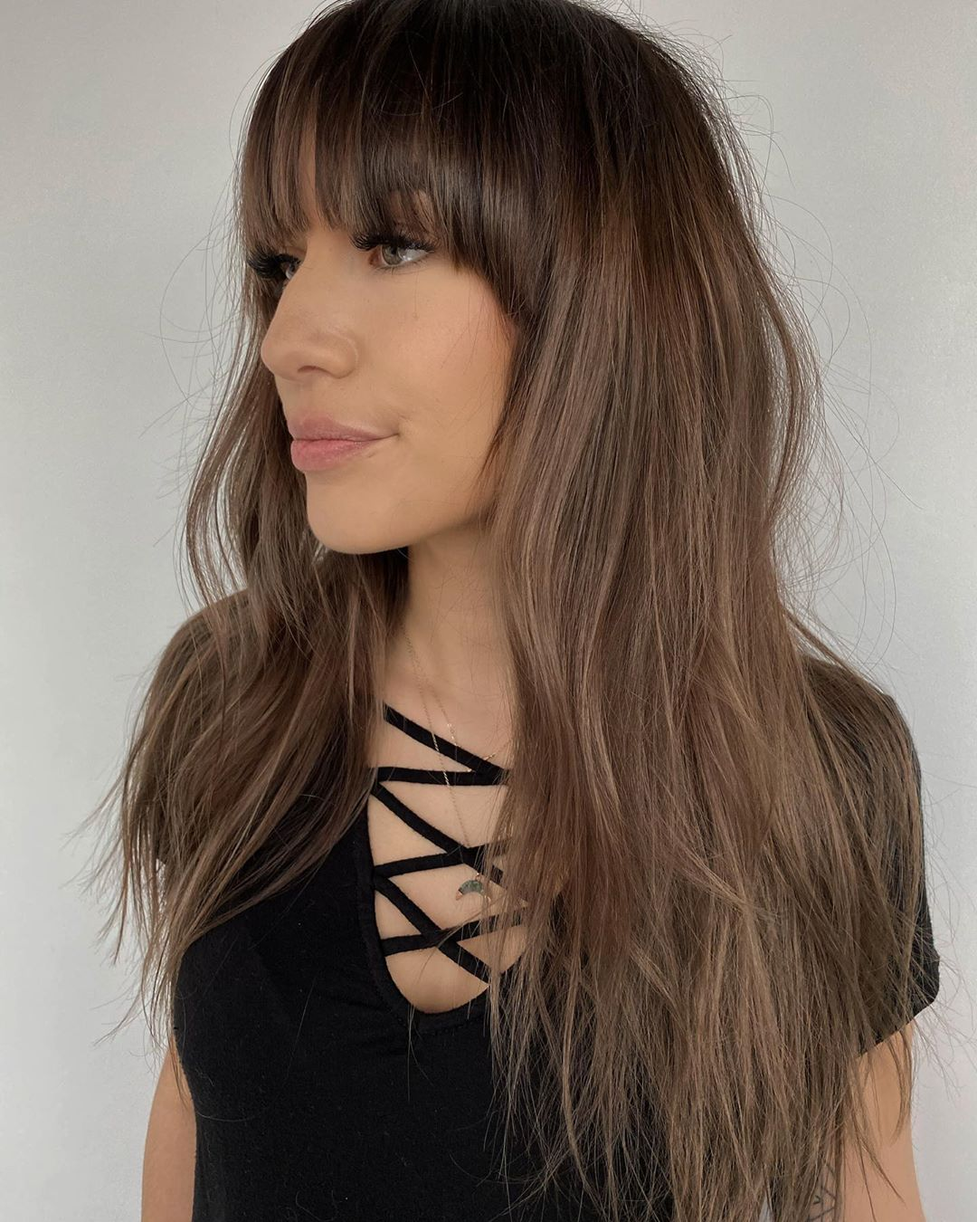 Long Thin Hair with Fringe and Layers