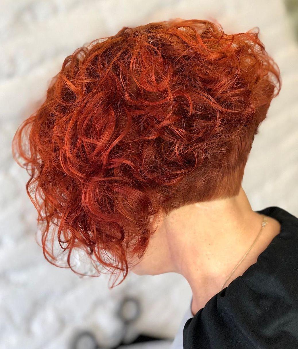 Short Undercut Bob for Curly Hair