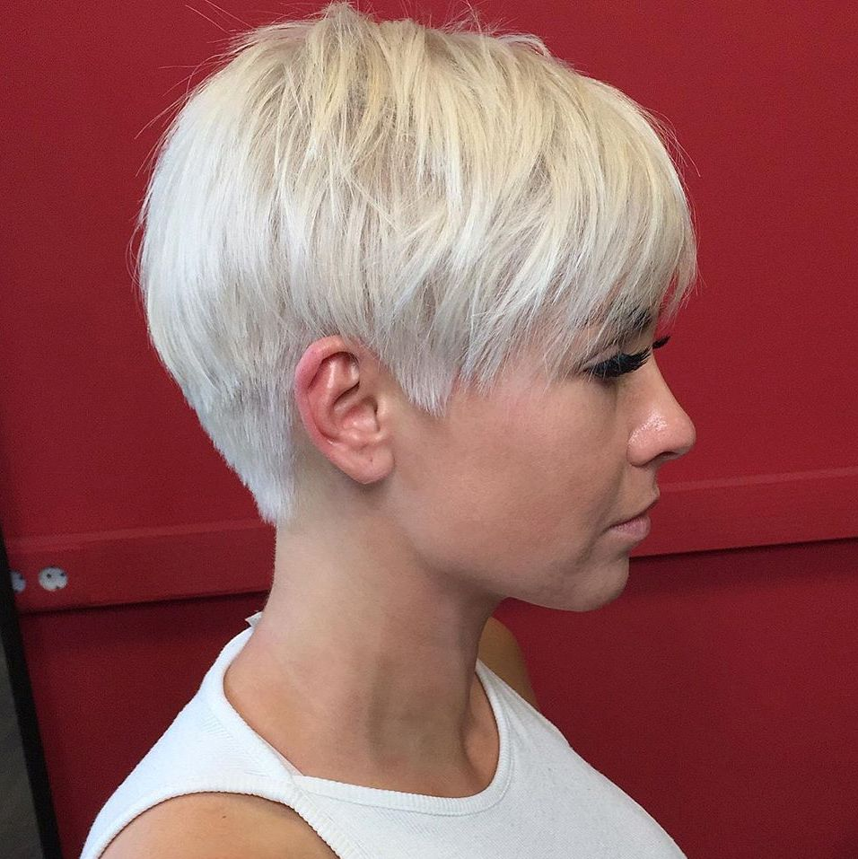 Short Feathered Pixie Cut