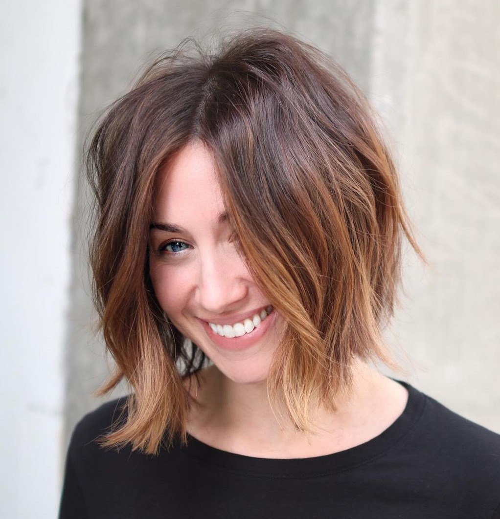 Shaggy Bob Haircut for Thin Hair