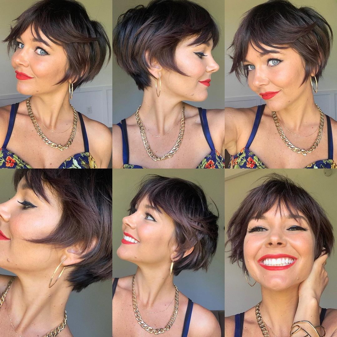 Bouncy Pixie Bob with Bangs