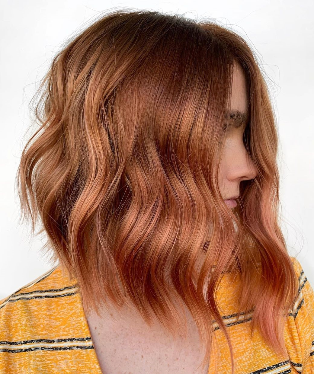 Light Auburn Hair with Rosy Babylights