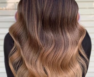 Brown to Caramel Ombre Effect