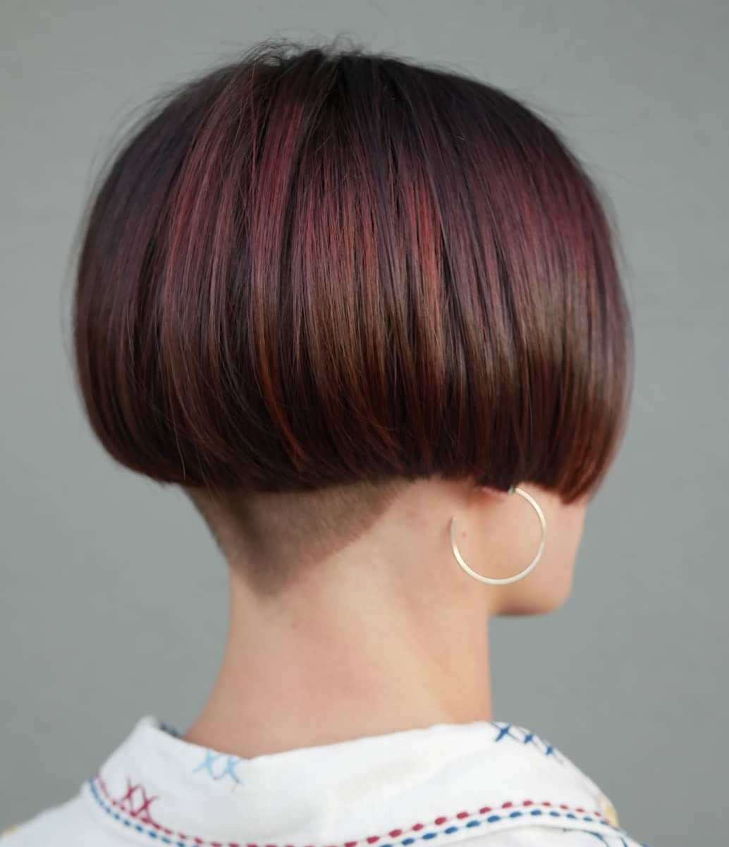 Bob with V-Cut Nape Undercut