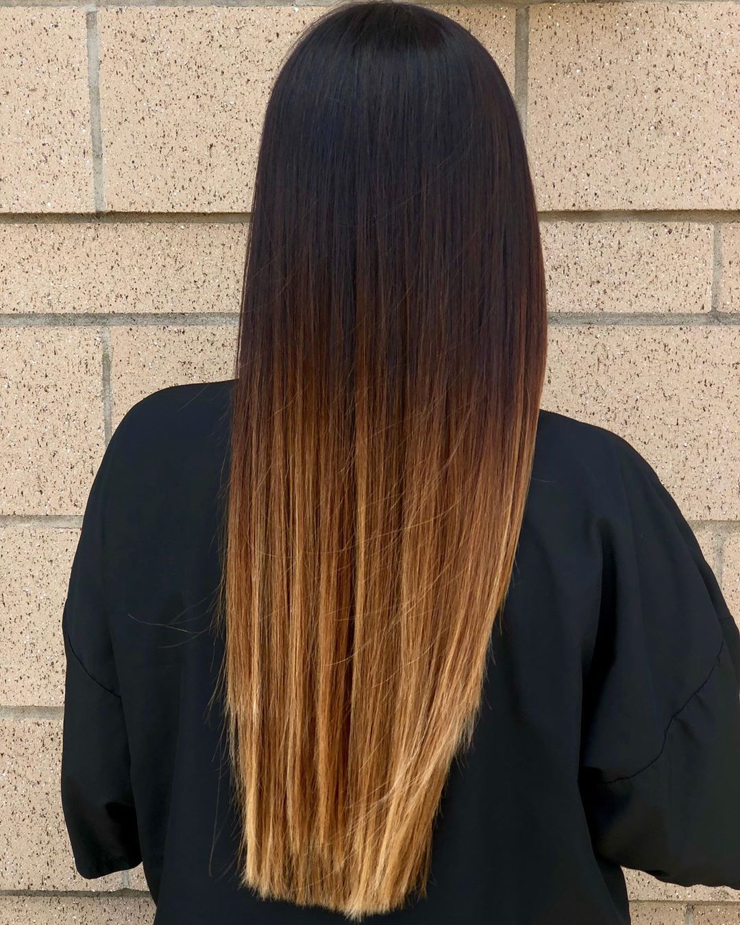Caramel Ombre for Straight Hair