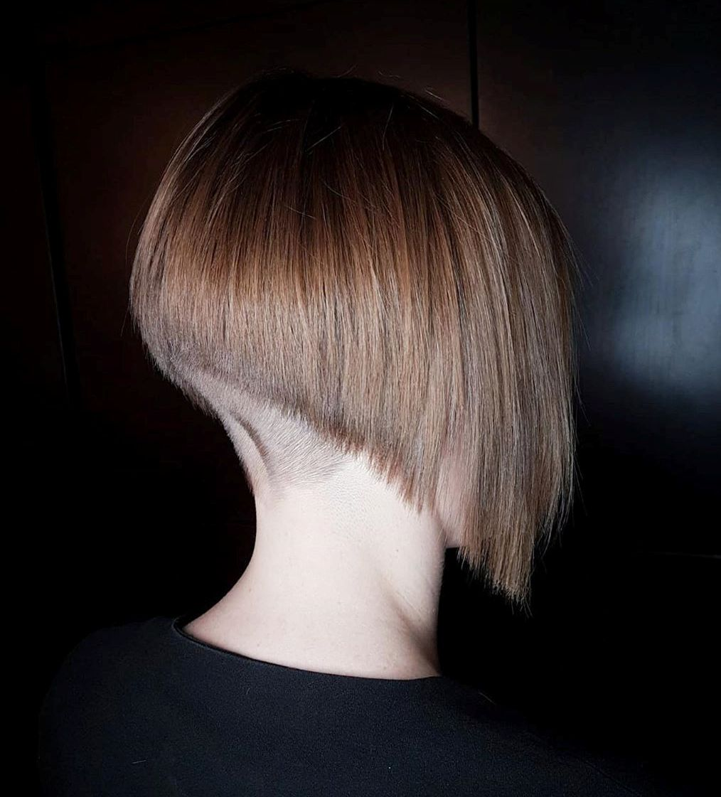 Angled Bob with Back Undercut