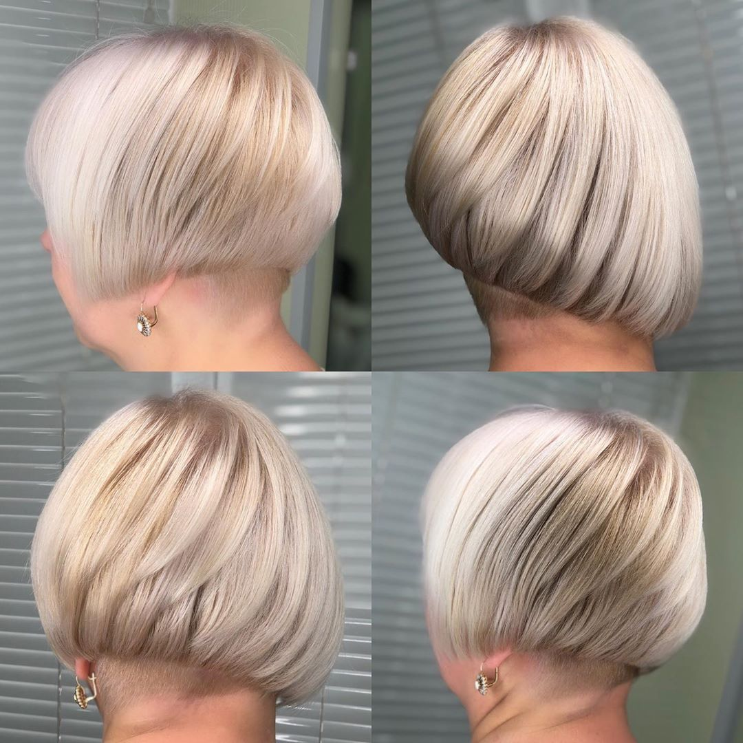 Undercut Asymmetrical Bob for Blonds