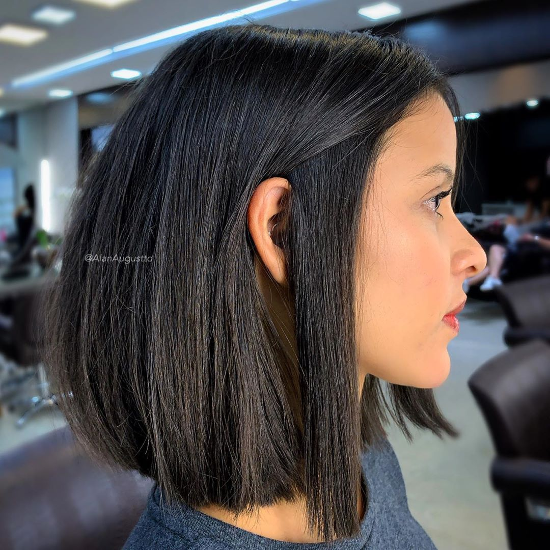 Blunt Cut Lob for Thick Hair