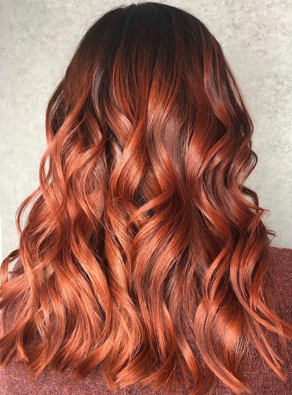 Caramel Red Balayage Hair