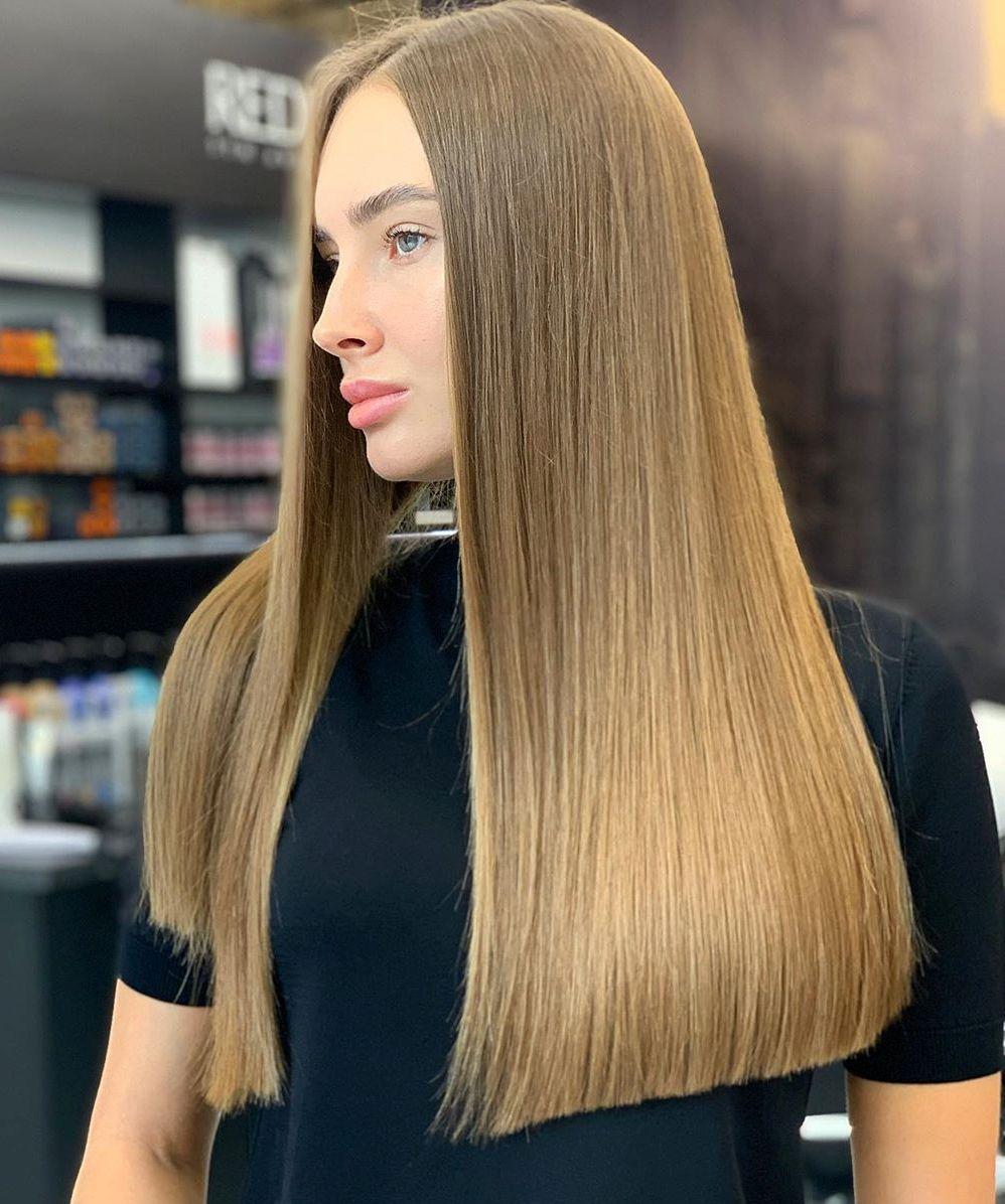Mid-Back Blunt Cut Hair
