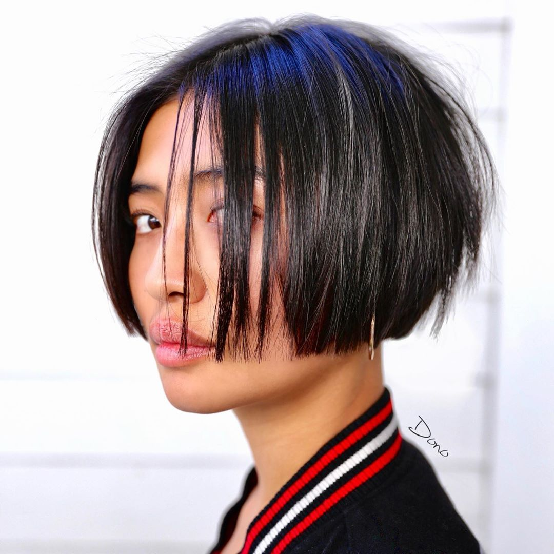 Lip-Length Blunt Stacked Bob
