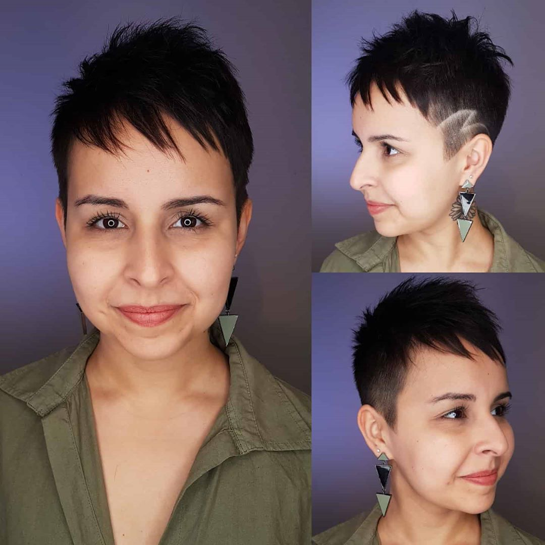 Undercut Pixie Hairstyle for Fine Hair