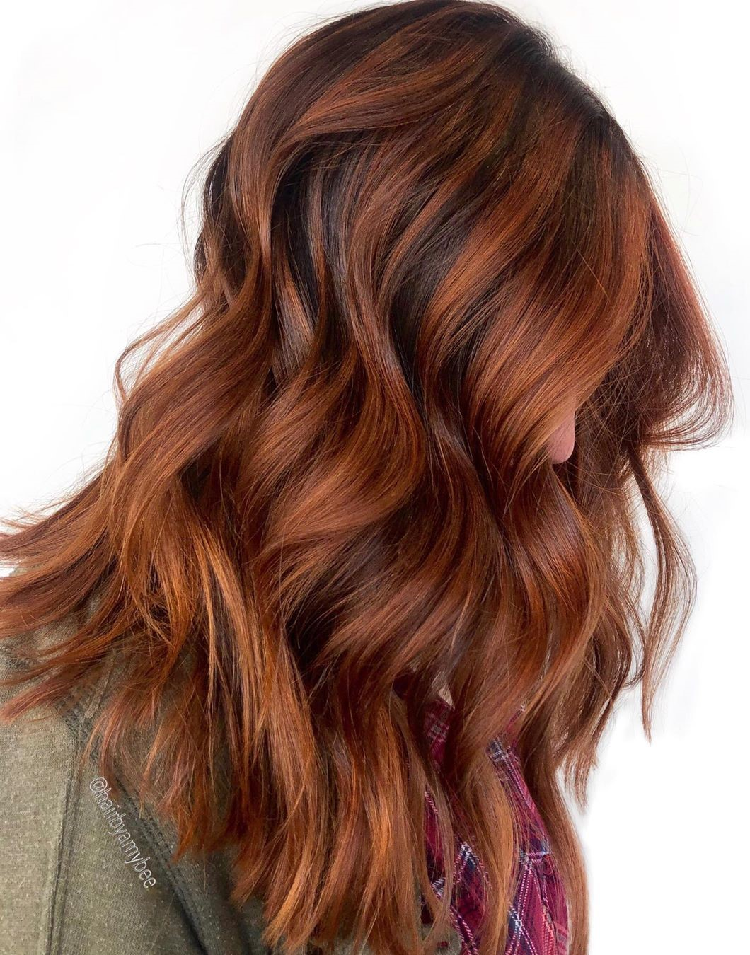 Sweet Red and Brown Hair Color