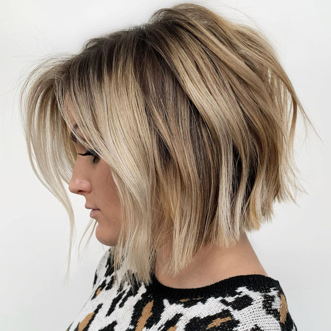 Inverted Bob Cut with Blunt Ends