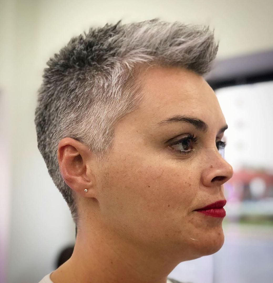 Gray Buzz Cut for Women