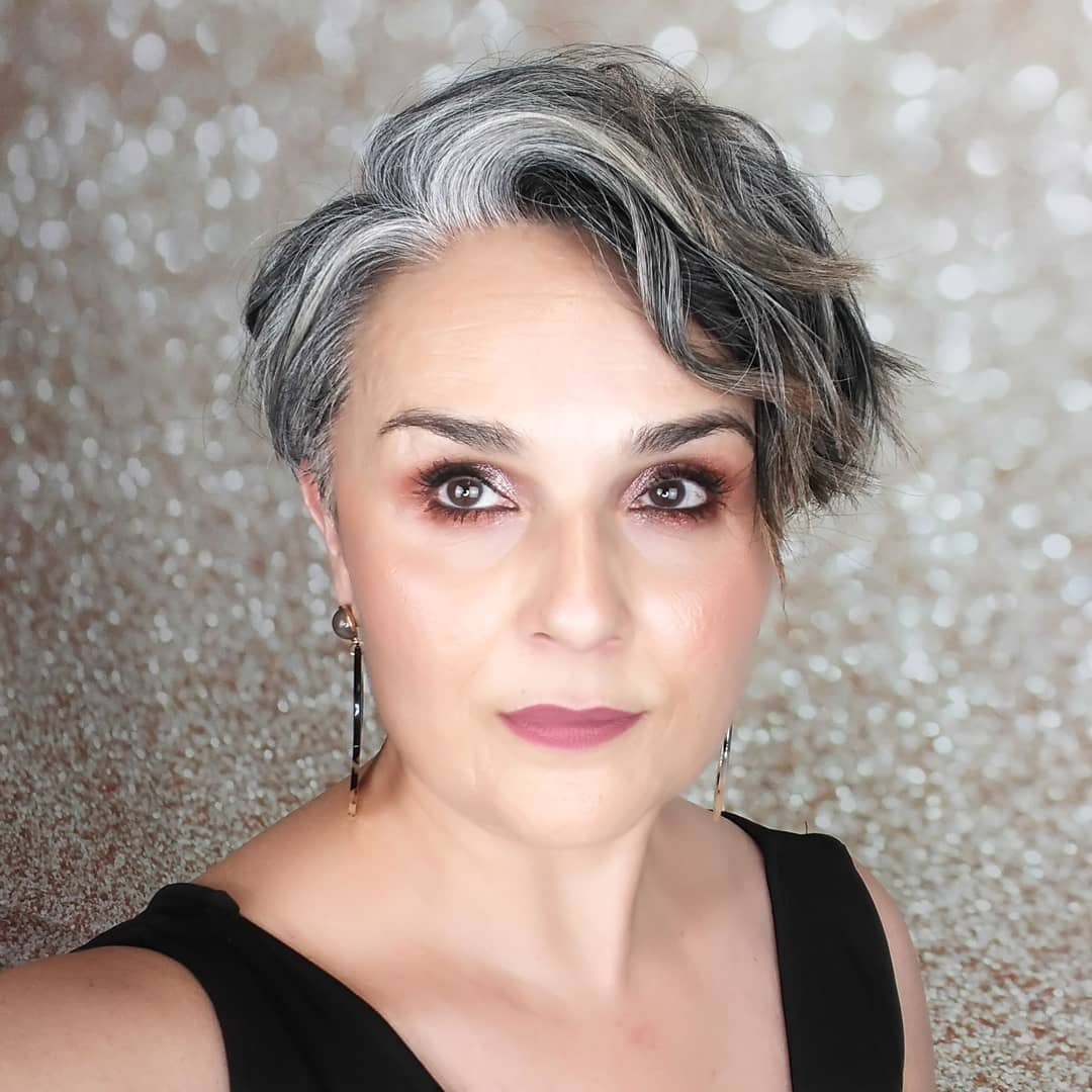 Pixie Hairstyle for Gray Hair