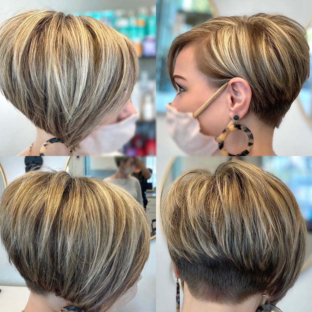 Short Undercut Bob with Bangs