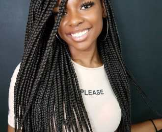Long Individual Braids for Natural Hair