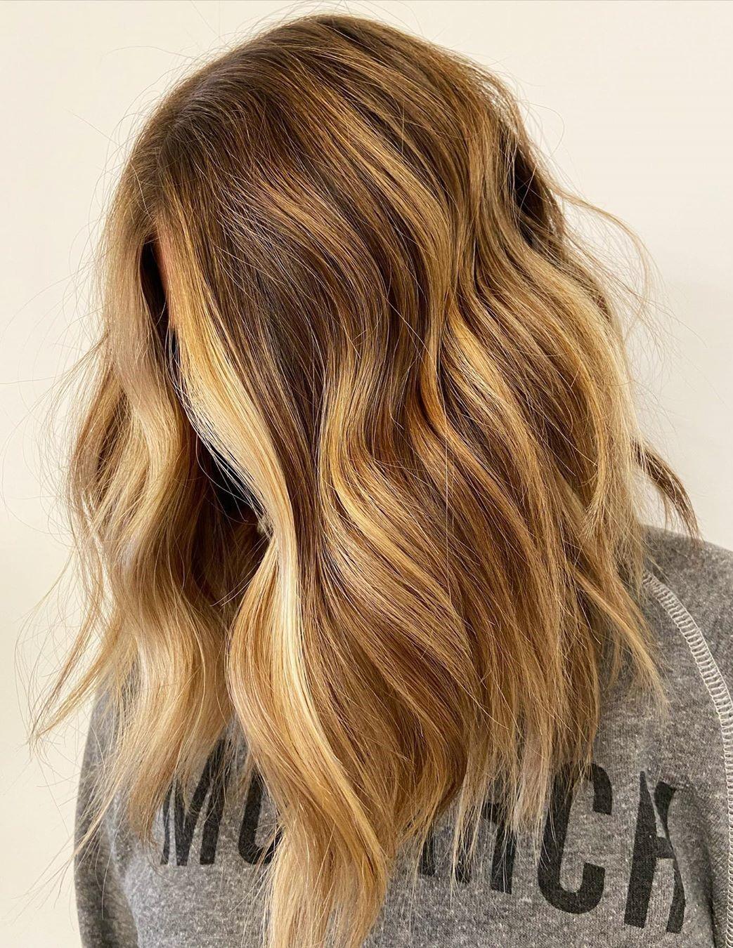 Red and Blonde Balayage Hair